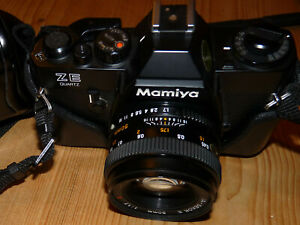 Mamiys ZE-2 Quarz mit Mamiya Sekor E 50mm 1.7