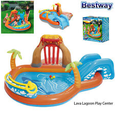 Bestway Kids Lava Lagoon Inflatable Summer Garden Paddling Pool Play Centre