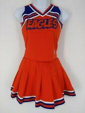 "VTG ""Eagles"" 2 Piece Top Skirt Cheerleading Cheer Uniform MADE IN USA Size 28"