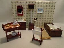 DOLLS HOUSE FURNITURE MIXED LOT BATHROOM & ACCESSORIES 12TH SCALE
