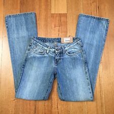 BNWT REPLAY Womens Bootcut Jeans W434 032 Size W26 L32 Faded Destroyed Blue 90s