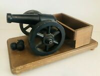 """Vintage Cornwall Wood Products of Maine Model Wood Cannon 13"""" x  8"""""""