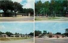 Panama City FL~Brannings Motel~Apts~Trailer Court~Food Store~1950s Cars