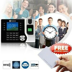 Realand Biometric Fingerprint Time Attendance Clock TCP/IP USB + 20pcs RFID Card