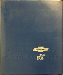 1977 Chevy Truck Data Book for all Chevrolet Trucks Options and Specifications