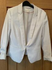 Womens H&M White Blazer Suit Jacket Size 8