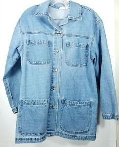 Cabin Creek Womens Jean Jacket Size Small Chico Blue Denim 100% Cotton 4 Pockets