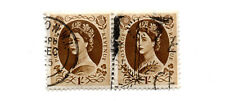 GB UK REGINA ELISABETTA II presto Definitives-COPPIA 1/- X 2 P/m London Wi USATO S *