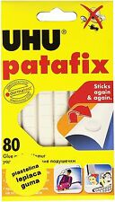 UHU PATAFIX WHITE REMOVABLE AND RESUSABLE GLUE PADS 80 PCS FREE POST