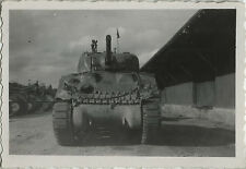 PHOTO ANCIENNE - VINTAGE SNAPSHOT - MILITAIRE CHAR CHENILLE CANON -MILITARY TANK