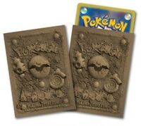 Pokemon Center Card Game Sleeve Fossil pattern 32 sleeves New Japan