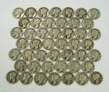 Lot of 46 San Francisco Mint 1916-S Mercury Silver Winged Liberty Head Dimes N/R