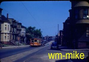 #282 - TROLLEY - Boston Elevated car #4400 in 1941 Original slide