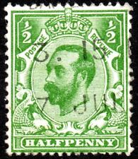 1911 Sg 322 N1/1 ½d green (T1, Crown, Die A) with Machine Cancel Fine Used