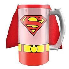 122427 SUPER HERO SUPER MAN DC COMICS STEIN GLASS BEER STEIN COLD DRINK 500ML