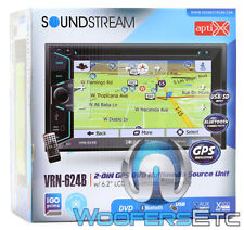 "Soundstream Vrn-624B Pro 6.2"" Tv Cd Dvd Gps Usb Navigation Bluetooth Stereo New"