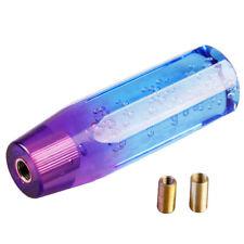 Universal Manual M12X1.25 Transparent Crystal Bubble Shift Knob Purple+Blue