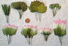 55 Leaves Assorted variegated Handmade Mulberry Paper floral design scrapbook