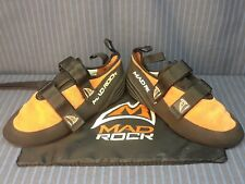 """New listing Mad Rock """"Mad Rubber"""" Climbing Shoes, Mens Size 8/7/41, w/ Storage Bag, Nwot"""