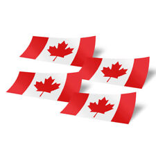 Canada 4 Pack of 4 Inch Wide Flag Stickers for Window Laptop Computer