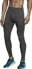 Adidas Speed Mens Long Running Tights Zipper Grey Size XS NEW DP3947 $90 NEW