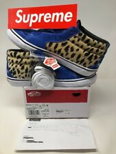 Supreme Vans Sk8-Mid Pro Cheetah Velvet Royal Blue Sz 11 DS SS17 Receipt Leopard