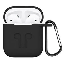 PASBUY 8C Silicone Shock Resistant Case+Carabiner+Anti lost for Apple AirPods B