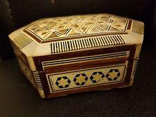 Vintage Mother of Pearl TRINKET BOX