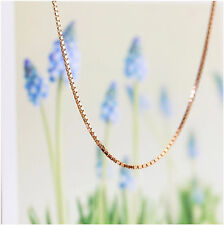 Unisex Jewellery 925 Sterling Silver Rose Gold Necklace Box Chain For Pendant
