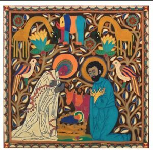 Holy Family Nativity Embroidery South Africa Tsonga Fair Trade Wallhanging