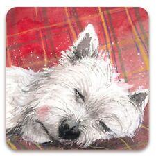 Alex Clark 'TARTAN RUG' West Highland Terrier Fridge Magnet
