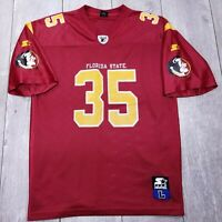 Vintage Starter NCAA Florida State Seminoles Football Jersey Mens Large #35 T14