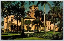 The Ringling Brothers Mansion in Sarasota, Florida Chrome Postcard Unused