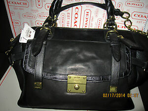 COACH PINNACLE BETTE CLASSIC Black Leather XL Satchel~18774~NWT~Price Reduced