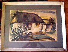 Haitian Watercolor by Luckner Lazard - 1947