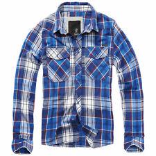 Brandit Check Shirt Hemd navy blau kariert S-XXL Flanell Woodcutter Freizeithemd