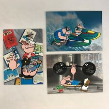 """POPEYE 65th ANNIVERSARY Complete FOIL ETCHED """"POWER CELS"""" Chase Card Set of 3"""