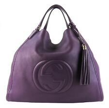 Gucci Purple Leather Large Soho Tote Bag