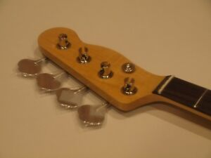 All Parts Neck for vintage Fender Tele/Precision Bass TBRO Finished, tuners