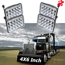 "4x 4X6"" LED Sealed Headlights For International 9300 Eagle Series Kenworth W900"