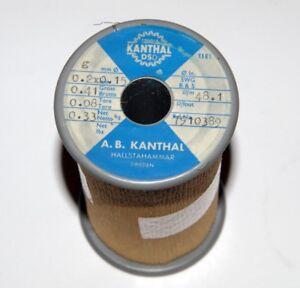 Kanthal DSD Flat Ribbon Resistance Heating Strip Wire Reel/Spool FeCrAl 1300°C