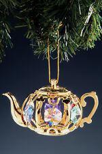 "SWAROVSKI CRYSTAL ELEMENTS ""Teapot"" FIGURINE - ORNAMENT 24KT GOLD PLATED"