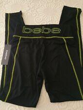 NWT bebe Black Neon Leggings - Size: S