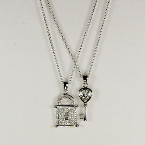 New - Fashion Necklaces - Padlock and Key Duo - Australian Seller - M059