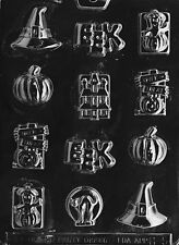 BS HALLOWEEN ASSORTMENT MOLD H5 eek witch Chocolate Candy molds cupcake toppers