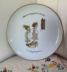 1973 Holly Hobbie Classic Editions 27cm Porcelain Collector Plate: Made in Japan