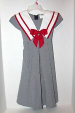 Rare Editions Red White & Blue Sailor Style Girl Dress 5