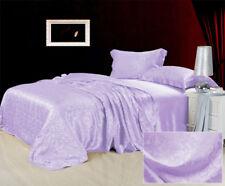 100% Seide Bettwäsche Bettbezug Set Kissenbezug mit Spitze Jacquar 3-tlg ZSB0026
