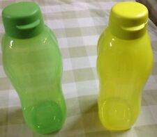 Tupperware 2L Jumbo Flip Top Water Bottles -Set of 2 -2000 ML each.