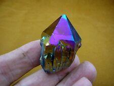 (R1-75) iridescent Aurora Crystal quartz titanium GEM gemstone Aura specimen